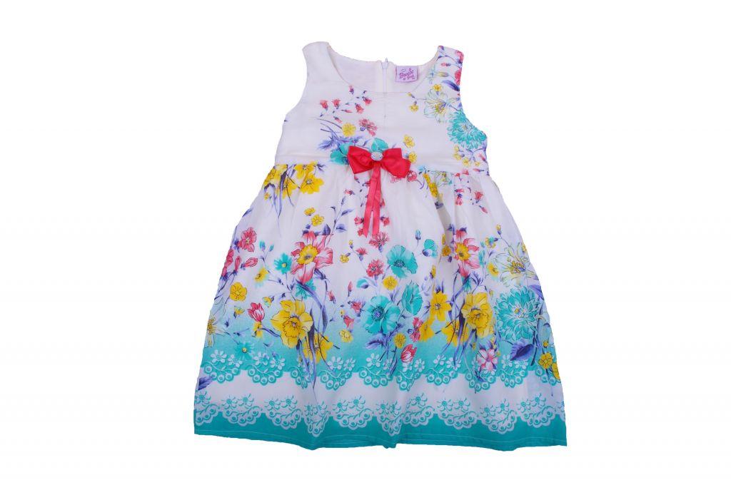 Детска рокля сатениран памук с подплата