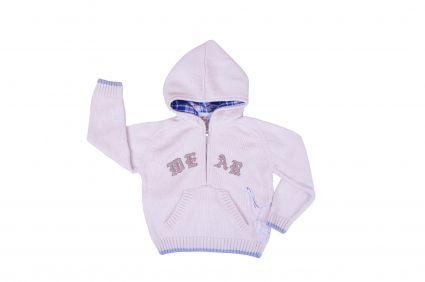 Бебешки Пуловер плетиво с качулка