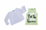 Детски Комплект потник с блуза мрежа