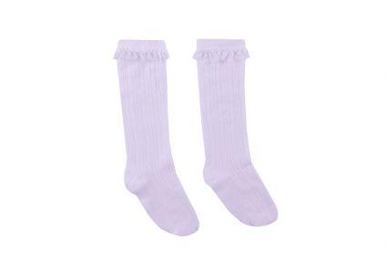 Детски Чорапи с дантела (бял)