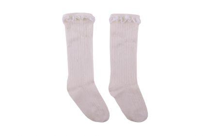 Детски Чорапи с дантела (екрю)