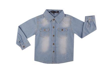 Бебешка Дънкова риза момче