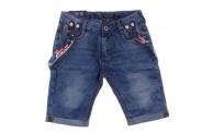 Детски Дънкови панталонки с тиранти за момче