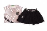 Детски Комплект за момиче тениска с пола