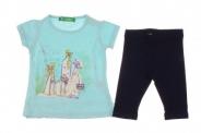 Бебешки Комплект за момиче тениска с клин
