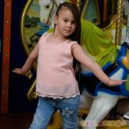 Детски Потник за момиче с дантела и перли