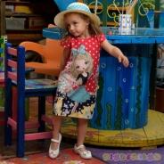 Детска Рокля къс ръкав с капела