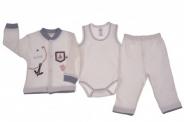 Бебешки Комплект дълъг ръкав момче 3 части