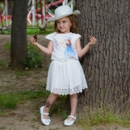 Детски Комплект къс ръкав момиче с капела