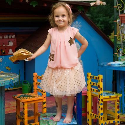 Детски Комплект къс ръкав момиче с чантичка