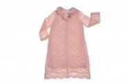 Детска Официална рокля дълъг ръкав с дантела