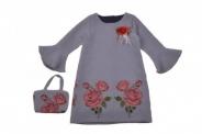 Детска Рокля дълъг ръкав с чантичка