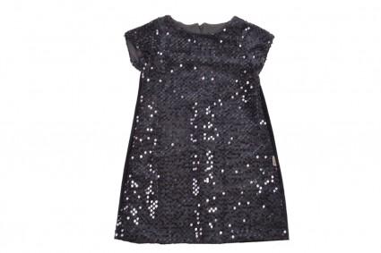 Официална рокля къс ръкав с пайети
