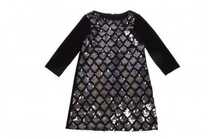 Детска Официална рокля дълъг ръкав