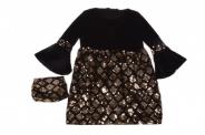 Детска Официална рокля дълъг ръкав с чантичка
