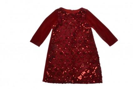 Детска Официална рокля дълъг ръкав Коледа