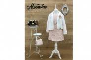 Детска Официална рокля дълъг ръкав с жилетка и чантичка