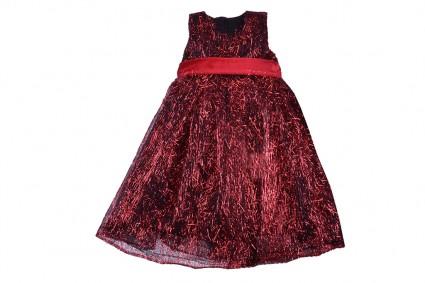 Детска Официална рокля къс ръкав