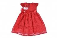 Детска Официална рокля къс ръкав с дантела