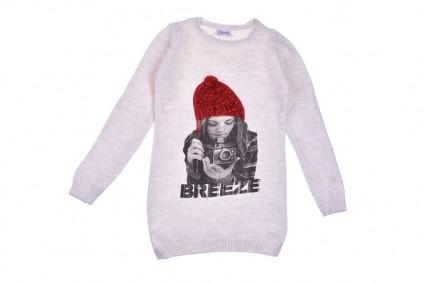 Детска Туника плетиво дълъг ръкав - Коледа