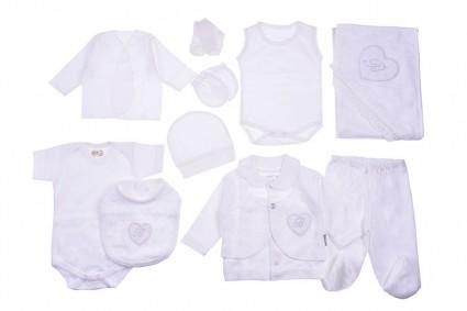 Бебешки Комплект за изписване 10 части момиче