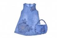 Детска Дънкова рокля с чантичка
