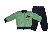 Бебешки Комплект дълъг ръкав с яке момче