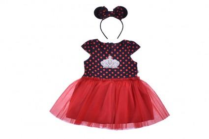 Детска Рокля къс ръкав с диадема - Mickey Mouse