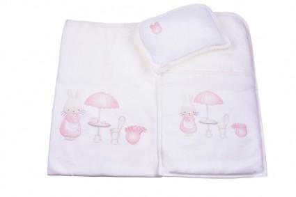 Детски Комплект за количка с възглавница и пелена момиче