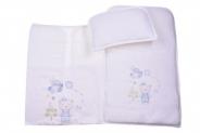 Бебешки Комплект за количка с възглавница и пелена момче