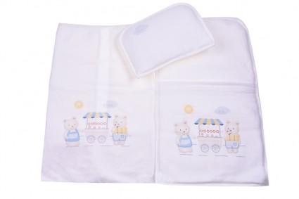 Детски Комплект за количка с възглавница и пелена момче