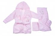 Бебешки Комплект за баня с халат момиче