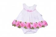 Бебешко Боди рокля с дантела