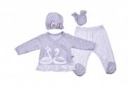 Бебешки Комплект дълъг ръкав момиче 4 части
