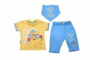 Бебешки Комплект къс ръкав момче 3 части