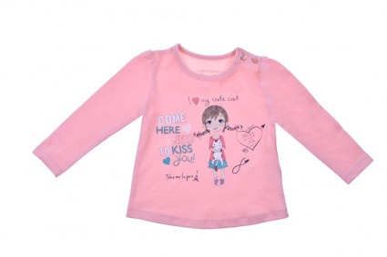 Бебешка Блуза момиче дълъг ръкав