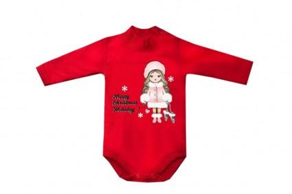 Детско Коледно боди дълъг ръкав