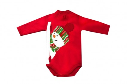 Бебешко Коледно боди дълъг ръкав