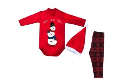 Бебешки Коледен комплект дълъг ръкав момиче