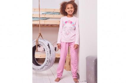 Детска Пижама дълъг ръкав за момиче