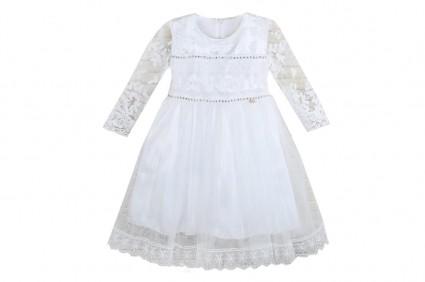 Детска Официална рокля дълъг ръкав - Коледа