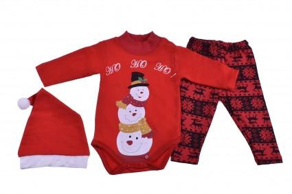 Детски Коледен комплект дълъг ръкав момиче