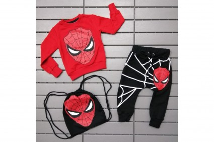 Детски Комплект дълъг ръкав момче 3 части - Spider-Man