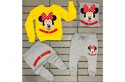 Детски Комплект дълъг ръкав момиче 3 части - Minnie Mouse