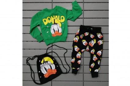 Детски Комплект дълъг ръкав момче 3 части - Donald Duck