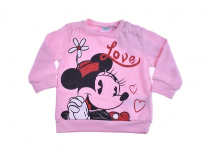 Бебешка Блуза момиче дълъг ръкав вата - Minnie Mouse