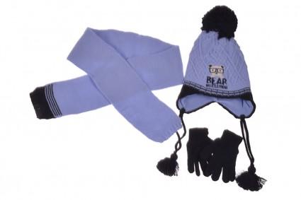 Детски Комплект с шапка, шал и ръкавици момче
