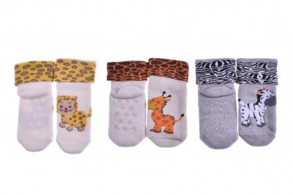 Бебешки Чорапи вата 3 броя - 6 броя пакет