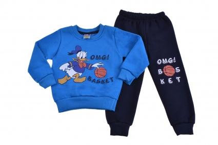 Детски Комплект дълъг ръкав момче вата - Donald Duck
