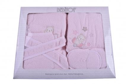 Бебешки Комплект за баня с халат момиче Baby Girl
